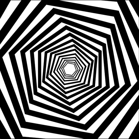 Abstract striped warped optical illusion Ilustrace