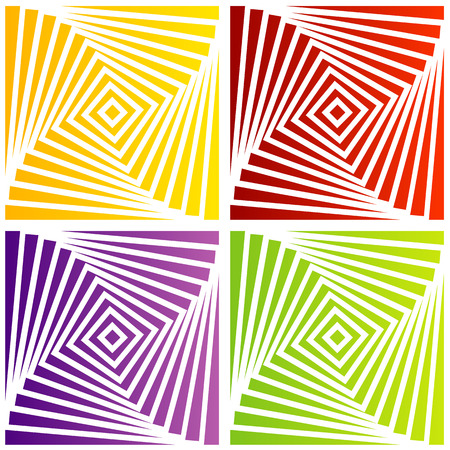 trickery: Colorful optical illusion