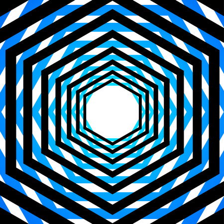 Colorful optical illusion Vector
