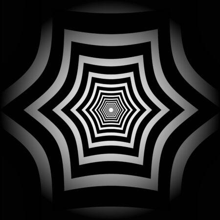 抽象的なストライプ歪んだ六角形の錯覚 写真素材 - 35093253