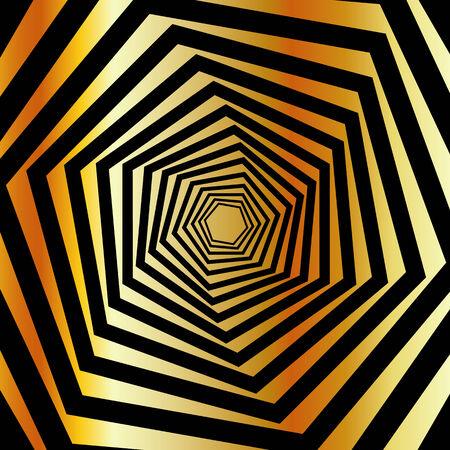 Golden furutistic background Ilustrace