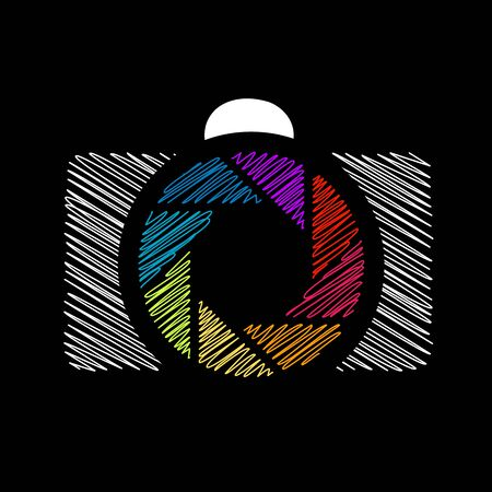 aperture: Camera with colorful aperture