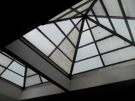 view of an atrium in a building: View of an atrium inside a modern building Stock Photo
