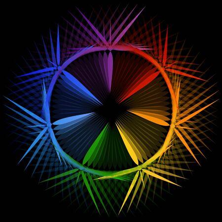 Star shaped design element or banner for web Illustration