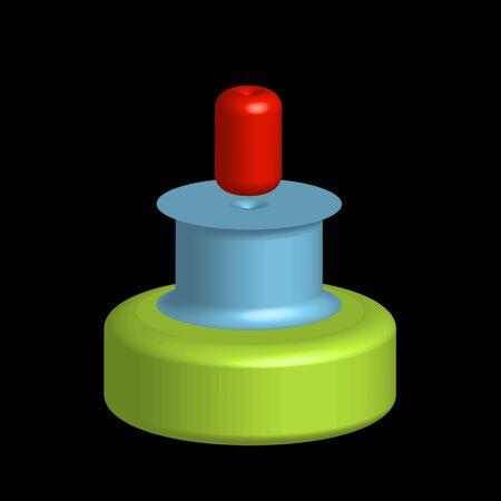 Colorful 3d objects for use as logo or design element Ilustração