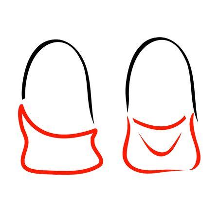 handbags: Abstract drawing of stylish handbags- handbag fashion logo Illustration