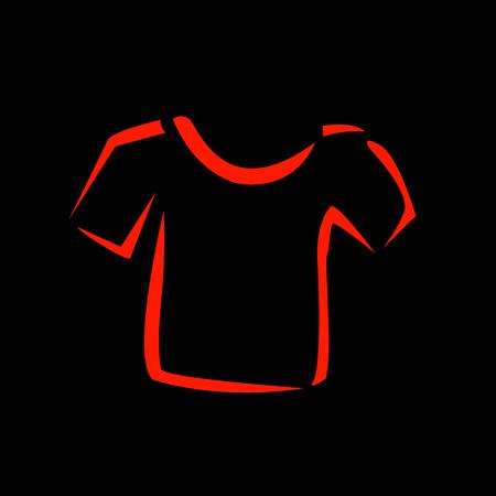 Abstract drawing of tshirts