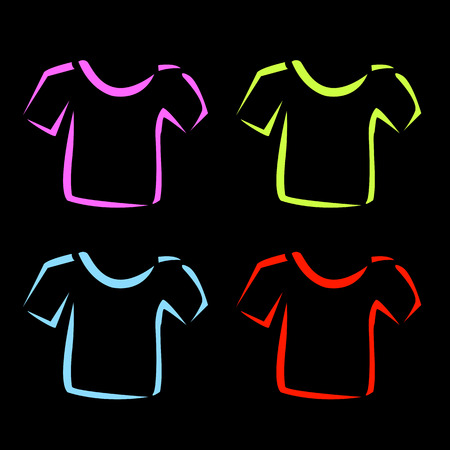 Abstract drawing of tshirts Vector
