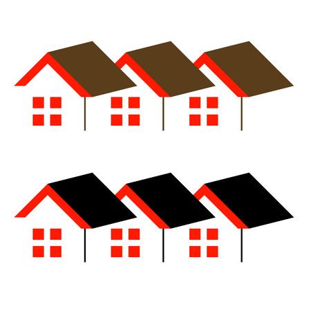 fermo: Logo astratto casa- di immobili o di studio di architettura Vettoriali