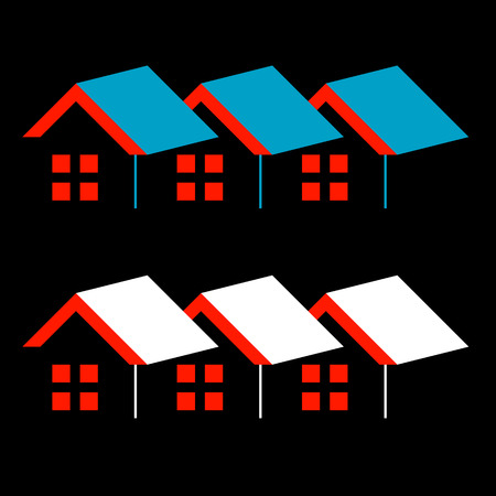 firm: Abstract home- logo for real estate or architecture firm Illustration
