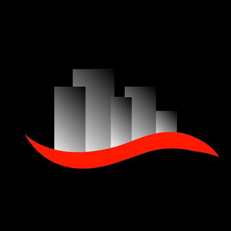 Abstracte Wolkenkrabbers logo voor onroerend goed of architectenbureau