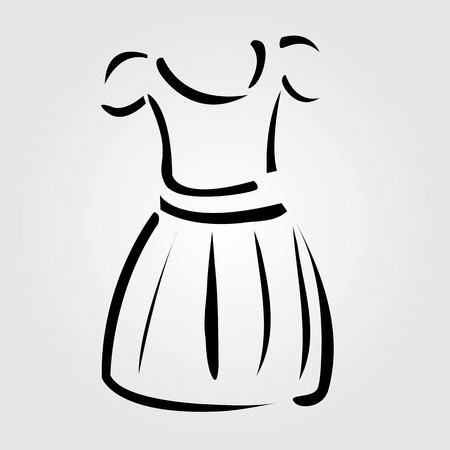 protective gown: Drawing of a pinafore- apparel logo Illustration