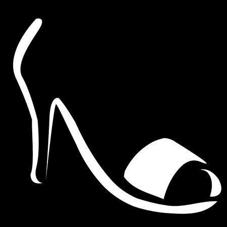 footwear: Abstract logo for designer footwear Illustration