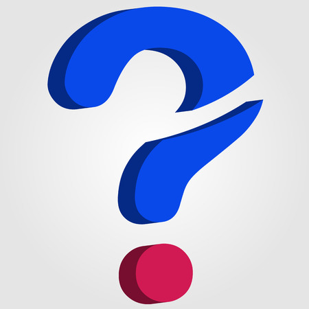 Stylized 3d question mark Vector
