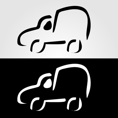 franchises: Car with abstract lines logo design concept Illustration
