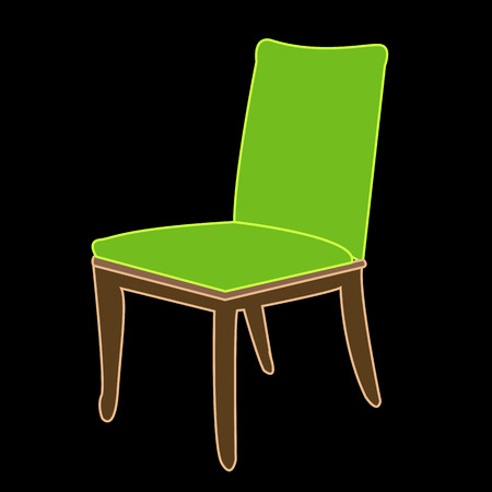 dining: Simple dining chair Illustration