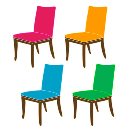 dining: Graphic of a dining chair