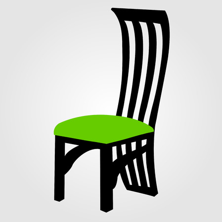 designer chair: Designer dining chair Illustration