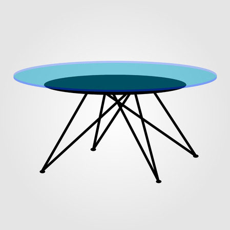 Modern glass coffee table Illustration