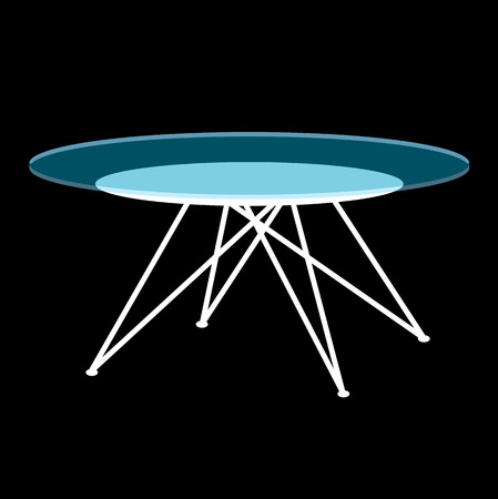 Modern glass coffee table Ilustracja