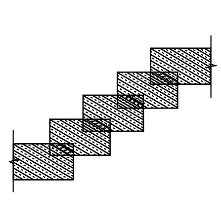 concrete stairs: Rectangular stone stairs