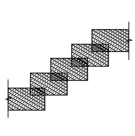 staircases: Rectangular stone stairs