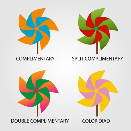 saturation: Set of color schemes Illustration