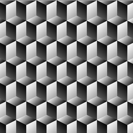 latticed: Cubes rows optical illusion background