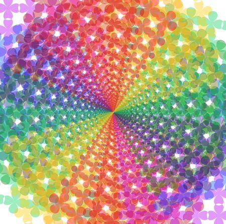 Mosaic pattern spectral background Ilustração
