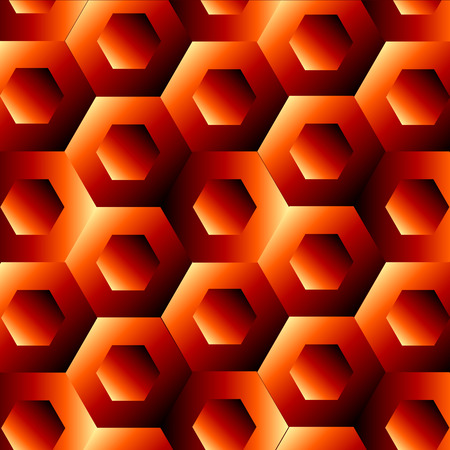 Optical illusion with hexagon 矢量图像