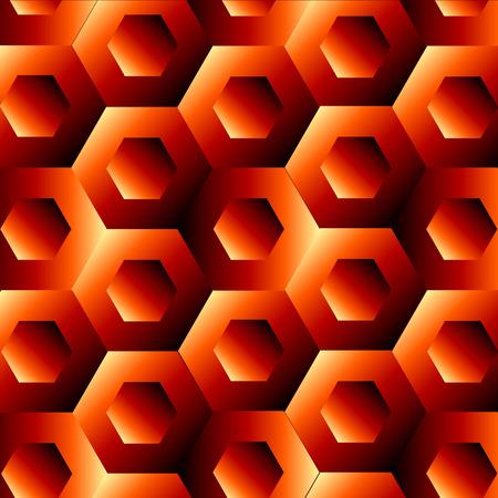 optical illusion: Optical illusion with hexagon Illustration