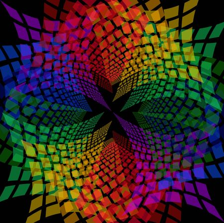 spectral: Mosaic pattern spectral background Illustration