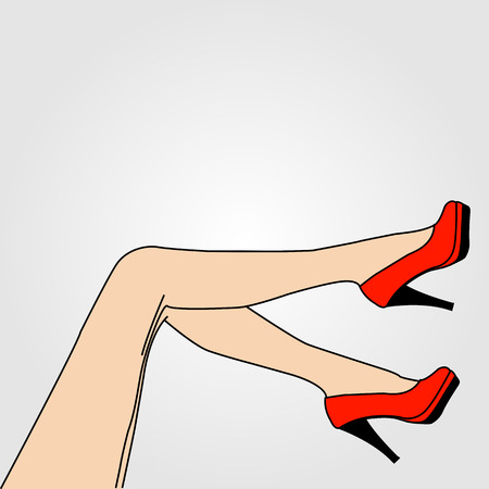 Legs of a woman wearing stilettos