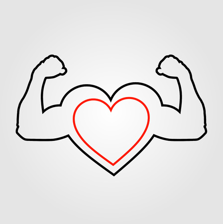 persistence: A heart with flexing muscles- Healthy heart