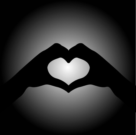 heart in hand: hand making sign Heart Illustration