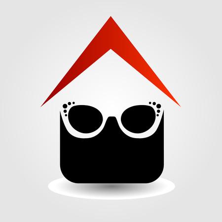 eyewear: Logo for eyewear shop Illustration