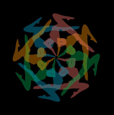Design element or artwork for yoga site Иллюстрация