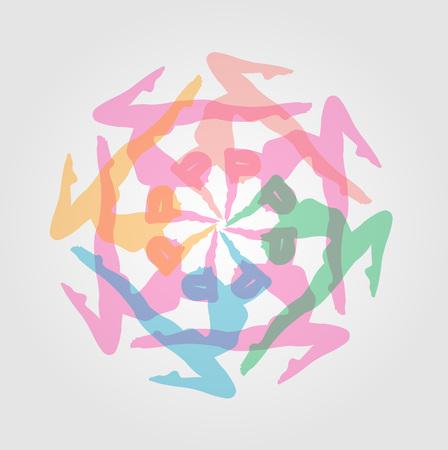 Lément de design ou des illustrations pour le site de yoga Banque d'images - 45215599