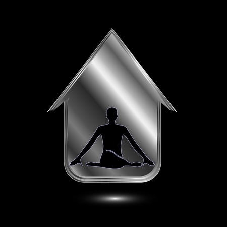 health beauty: A person meditating or performing yoga inside a house