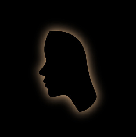 暗闇の中で梨花の顔の形の概要 写真素材 - 45215642