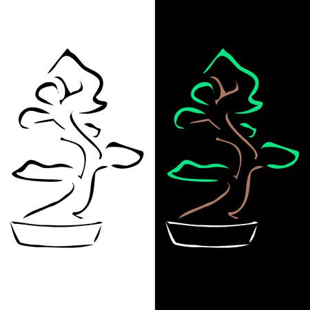 bonsai: Abstract bonsai drawing