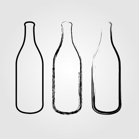 Bottles sketched