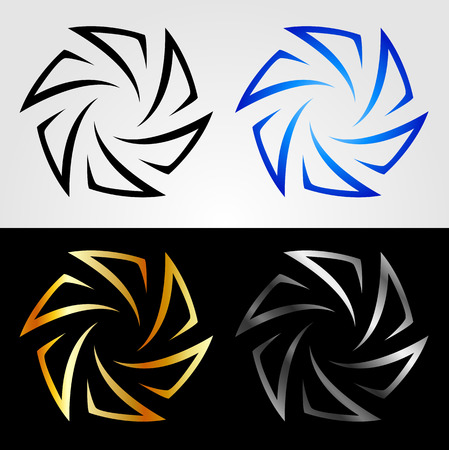 Aperture in different colors 向量圖像