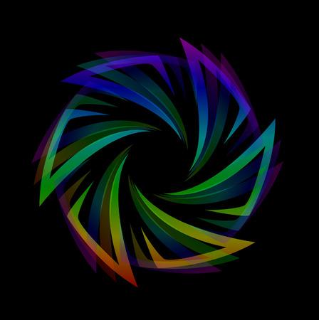 Abstract futuristic design element