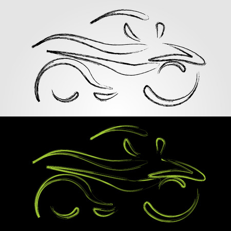 fender: Artistic graphic of motorbike