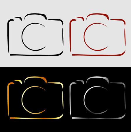 Abstract photography camera Illustration