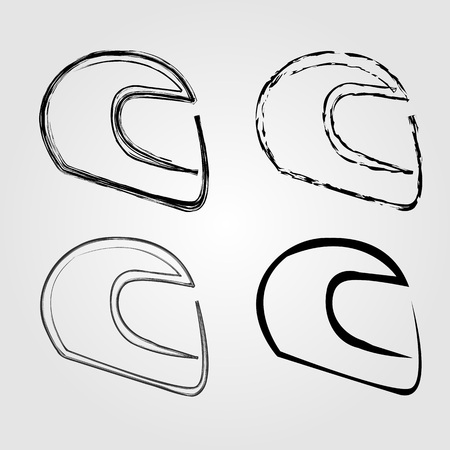 friction: Logo for motorsports in different effects Illustration