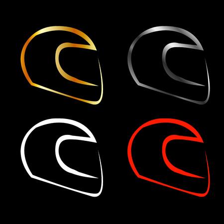 motorsports: Logo for motorsports in different effects Illustration