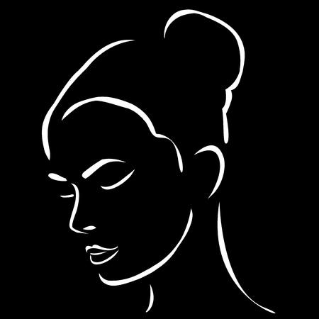 bollos: Cara de una joven y bella mujer