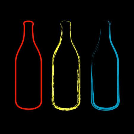 sketched: Bottles sketched